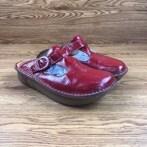 Alegria Sangria Patent Leather Clogs